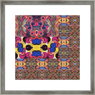 Puzzled - The Joy Of Design Series Compilation Framed Print by Helena Tiainen