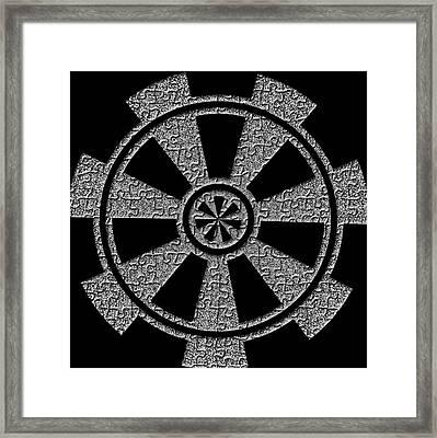 Puzzling Life Symbol Digital Art Framed Print