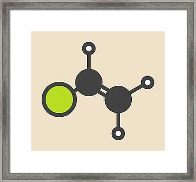 Pvc Building Block Molecule Framed Print by Molekuul