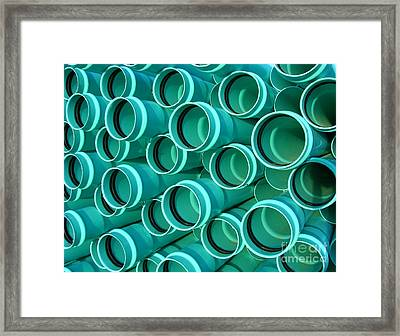 Pvc Pipes Framed Print by Olivier Le Queinec