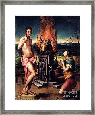 Pygmalion And Galatea Framed Print by Pg Reproductions