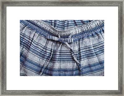 Pyjama Trousers Framed Print by Tom Gowanlock