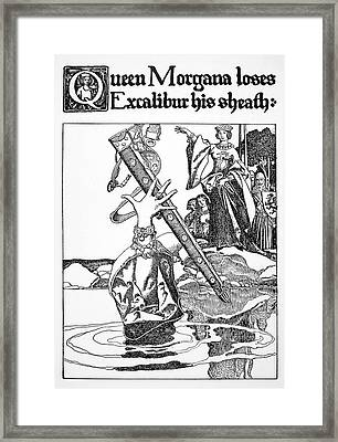 Pyle Morgan Le Fay Framed Print by Granger