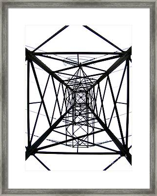 Pylon Framed Print by Nina Ficur Feenan