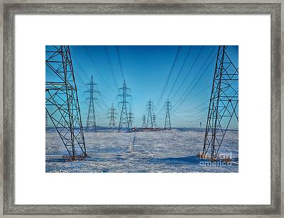 Pylons Abstract Framed Print by Isabel Poulin