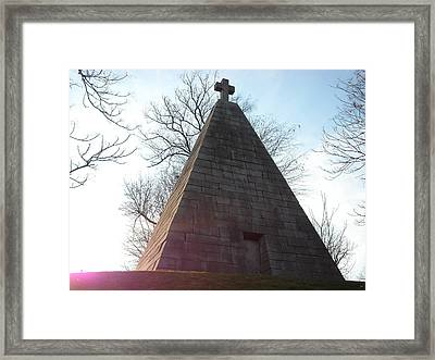 Framed Print featuring the photograph Pyramid At Dusk by Christophe Ennis