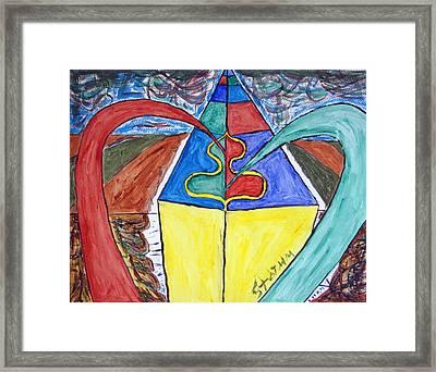 Pyramid Base Framed Print by Stormm Bradshaw