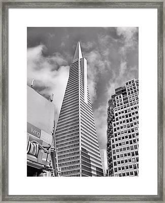 Pyramid Bw Framed Print
