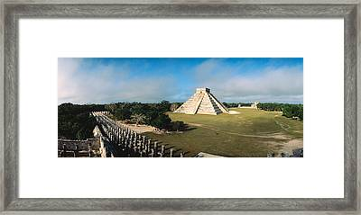 Pyramid Chichen Itza Mexico Framed Print by Panoramic Images