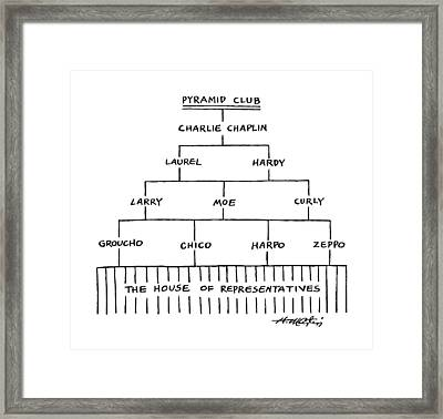 Pyramid Club Framed Print by Henry Martin