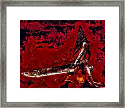 Pyramid Head Framed Print by Joe Misrasi