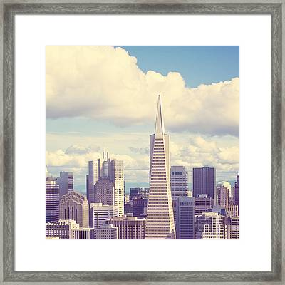 Pyramid In The Sky Framed Print