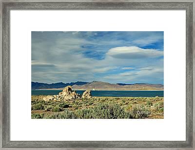 Pyramid Lake Framed Print by Benanne Stiens