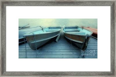 Pyramid Lake Row Boats Framed Print by Bob Christopher