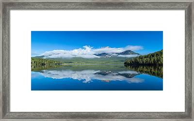 Pyramid Lake With Pyramid Mountain Framed Print