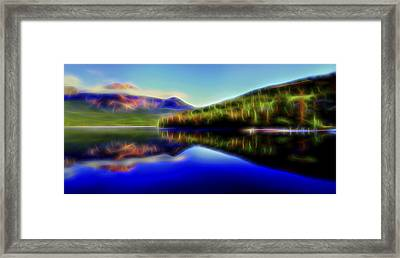Framed Print featuring the digital art Pyramid Mirror 1 by William Horden