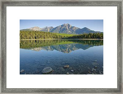 Pyramid Mountain And Patricia Lake Framed Print by Bill Coster