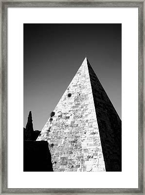 Pyramid Of Cestius Framed Print