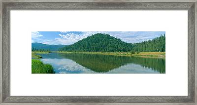 Pyramid Of Pines, Smith Ferry, Idaho Framed Print by Panoramic Images