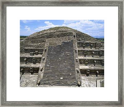 Pyramid Of The Moon. 4th C. Mexico Framed Print