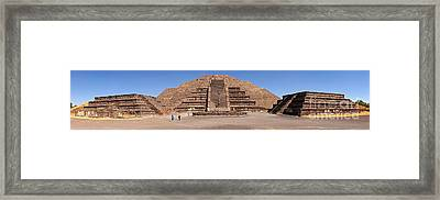 Pyramid Of The Moon Panorama Framed Print by Sean Griffin