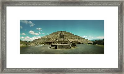 Pyramid Of The Sun In The Teotihuacan Framed Print