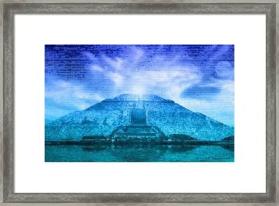 Pyramid Of The Sun Framed Print by WB Johnston