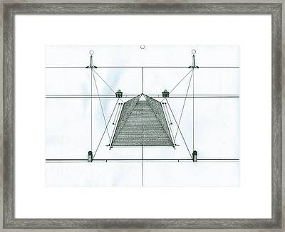 Framed Print featuring the painting Pyramid by Richie Montgomery