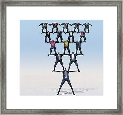 Pyramid Saving Scheme Framed Print