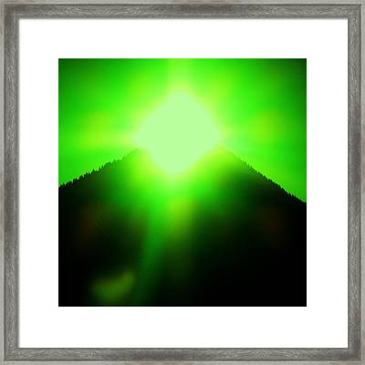 Pyramiden-portal Framed Print