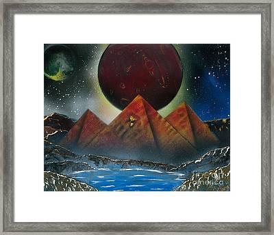 Pyramids 4663 Framed Print
