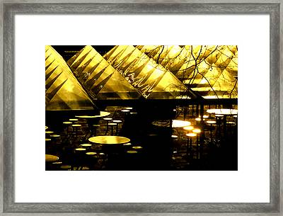 Pyramids And Saucers Framed Print