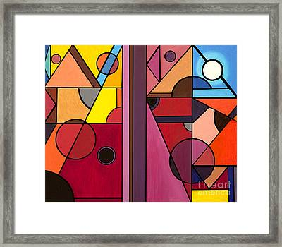 Pyramids At Night Framed Print by Christopher Page