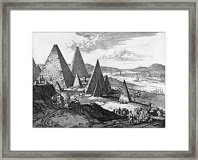 Pyramids Framed Print by Cci Archives