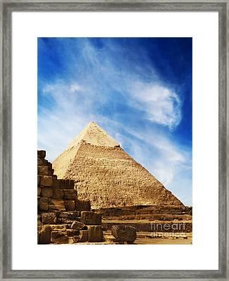 Pyramids In Egypt  Framed Print by Jelena Jovanovic