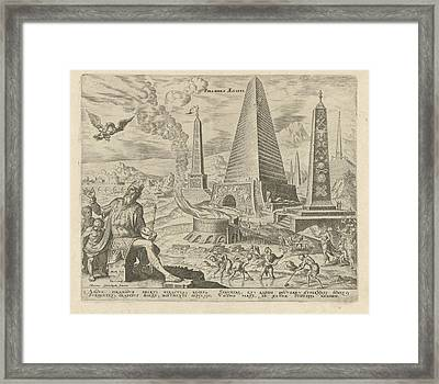 Pyramids Of Egypt, Philips Galle, Hadrianus Junius Framed Print