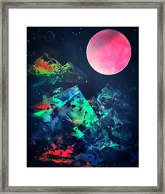 Pyramids Of The Universe  Framed Print