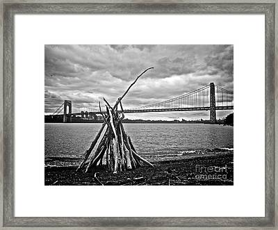 Pyre At The Bridge Framed Print