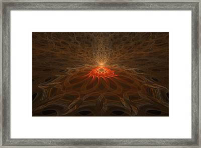 Framed Print featuring the digital art Pyre by GJ Blackman