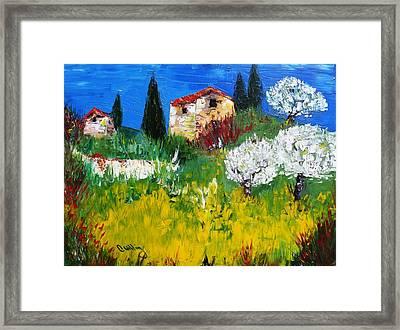 Pyrenees Farm  Framed Print