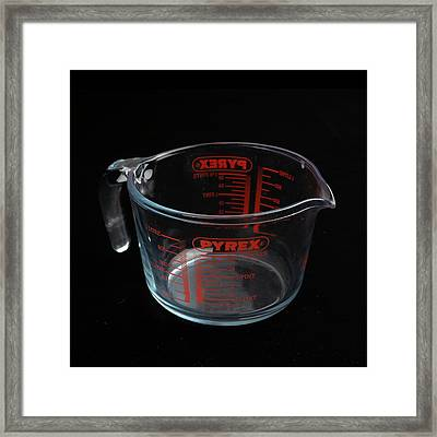 Pyrex Jug Framed Print by Science Photo Library