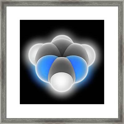 Pyrimidine Molecule Framed Print