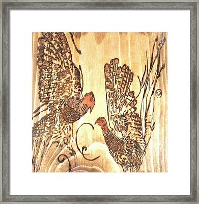 Pyrography Pheasant Framed Print by Art  Pyrography