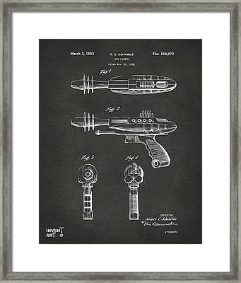 Pyrotomic Disintegrator Pistol Patent Gray Framed Print