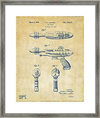 Pyrotomic Disintegrator Pistol Patent Vintage Framed Print