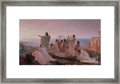 Pythagoreans' Hymn To The Rising Sun Framed Print by Fedor Andreevich Bronnikov