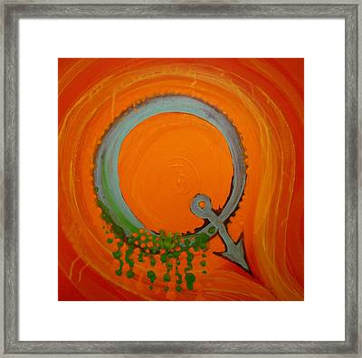 Quirky Q Framed Print