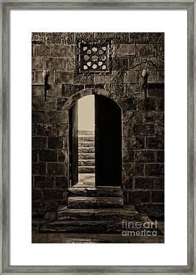 Qalawun Doorway Cairo Framed Print