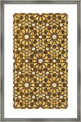 Qarawiyyin Mosque Geometric Pattern 1 Wood Framed Print by Hakon Soreide
