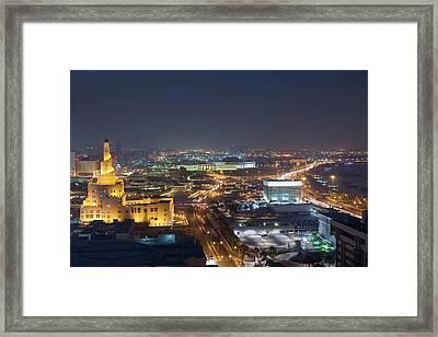 Qatar, Doha, Fanar, Qatar Islamic Framed Print